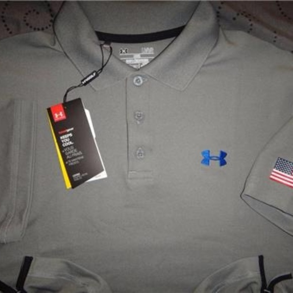 Under Armour Other - UNDER ARMOUR USA POLO SHIRT L MEN NWT $54.99